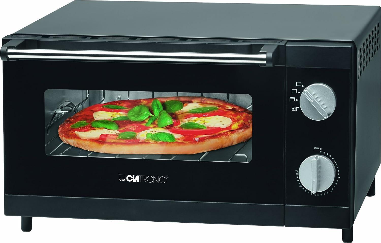 Clatronic MPO 3520 - Horno sobremesa especial para pizza, capacidad 12 l, 1000 W, color negro: Clatronic: Amazon.es: Hogar