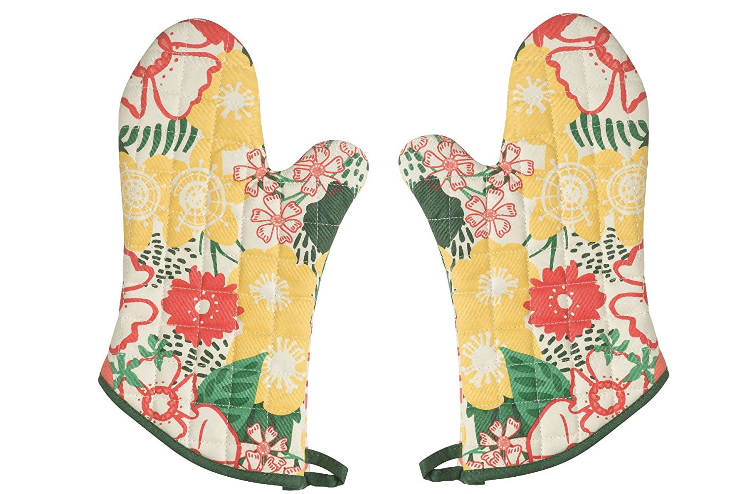 Now Designs Basic Oven Mitts, Bake A Cake, Set of 2 515806aa