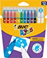 BIC Kids Magic Felt Pens - Assorted Colours, Wallet of 12