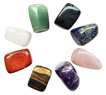 Chakra Stones Healing Crystals Set of 8, Tumbled and Polished, for 7  Chakras Balancing, Crystal
