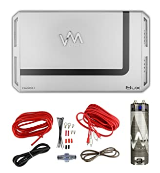Amazon vm audio elux 3000w 2 channel car amp red 8 gauge vm audio elux 3000w 2 channel car amp red 8 gauge wiring kit 30 capacitor greentooth Choice Image
