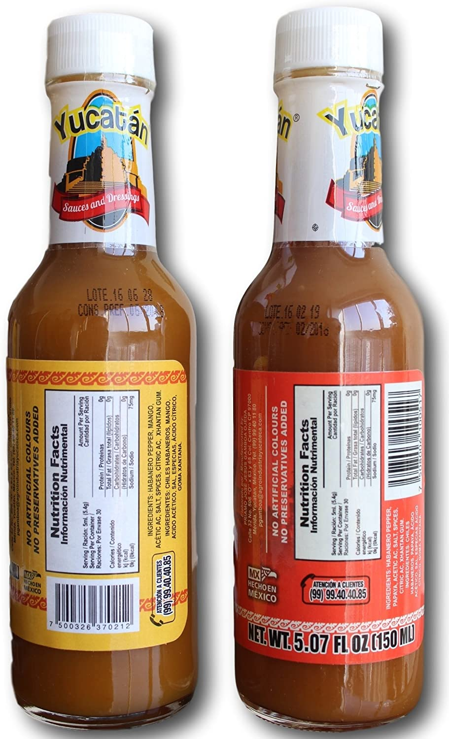 Amazon.com : Gourmet Hot Sauce Yucatan Fruit Habanero & Mango - Papaya 5 oz (2 pack) : Grocery & Gourmet Food