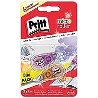 Pritt Micro Rolli, correctores de bolígrafo para tapar errores, cintas correctoras que no dejan manchas, corrector…