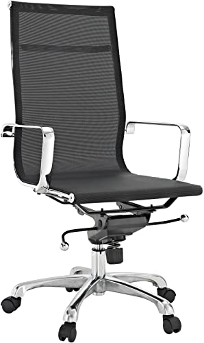 Lexington Modern Regis All-Black Mesh High Back Conference Office Chair