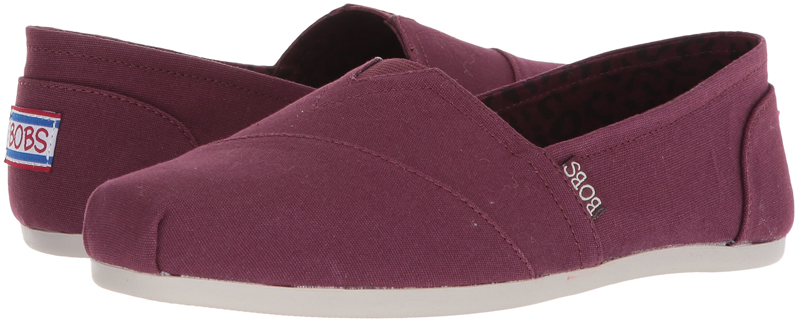 Skechers BOBS Women's Plush-Peace and Love Ballet Flat, Burgundy, 8 M US by Skechers (Image #5)