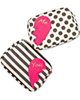Betsey Johnson 2 For 1 Zip Cosmetics Case Bag Set