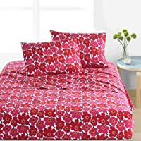 Marimekko Unikko Bedding, Twin/X-Large Twin Sheet Set, Red