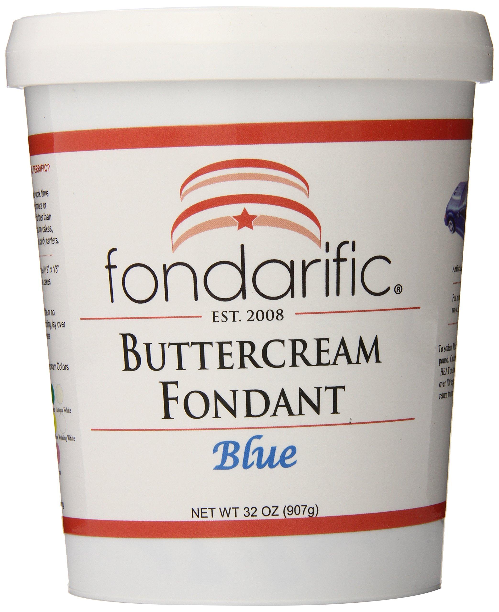 Fondarific Buttercream Blue Fondant, 2-Pounds