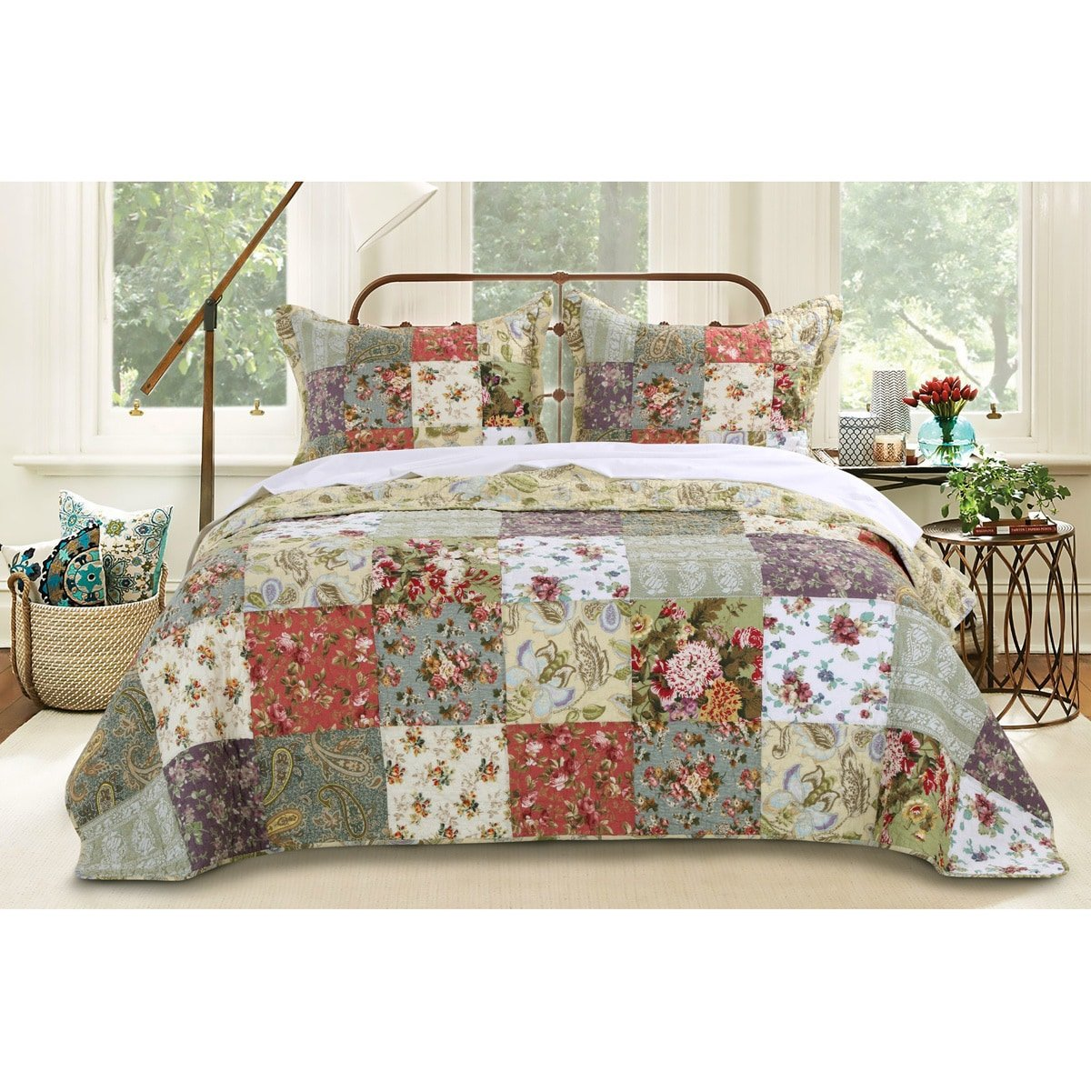 Blooming Prairie Bedspread Set Size: Full