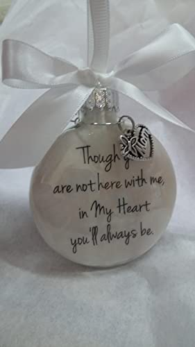 amazon com in memory of mom memorial christmas ornament in my heart