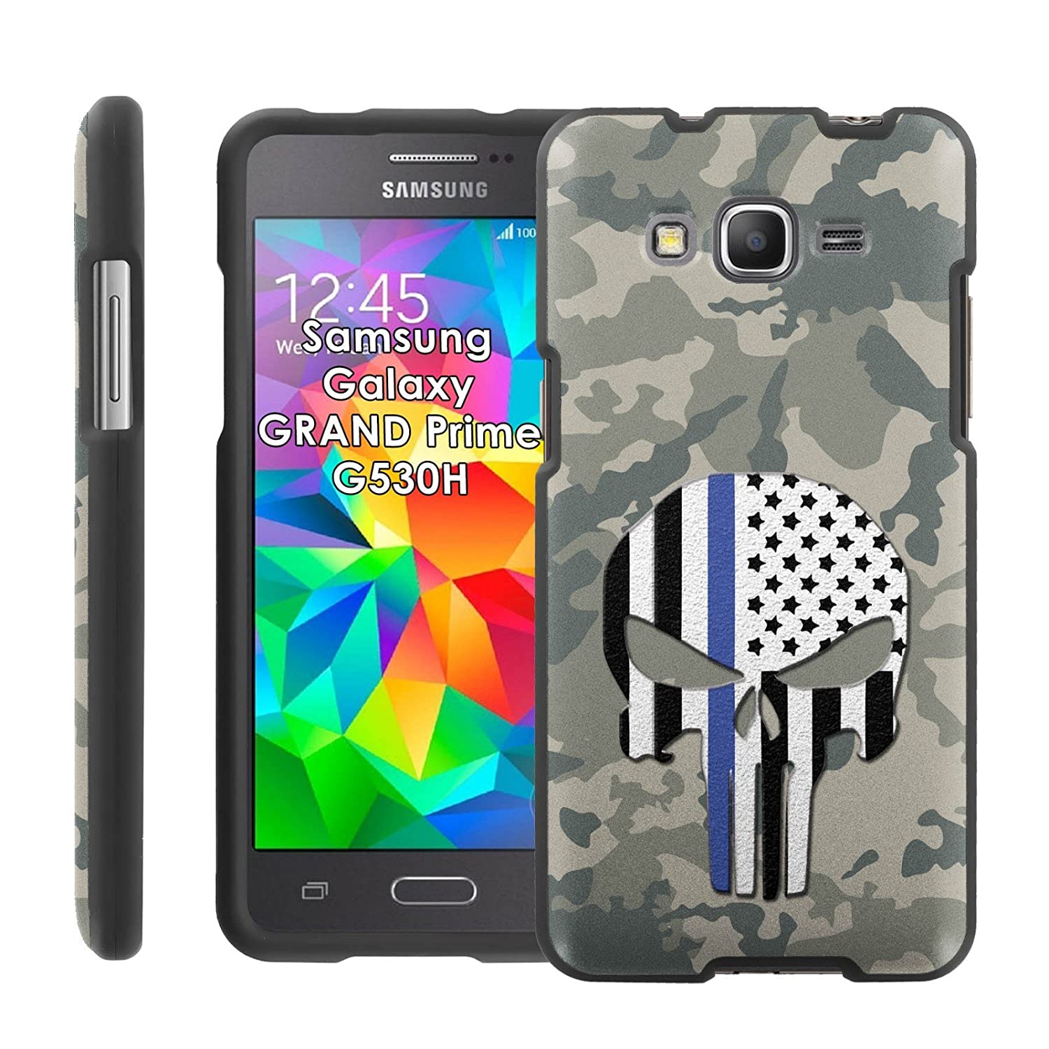 Amazon Samsung Galaxy [GRAND Prime] G530H Clam Shell Phone Cover Camo Skull by Case86 Cell Phones & Accessories