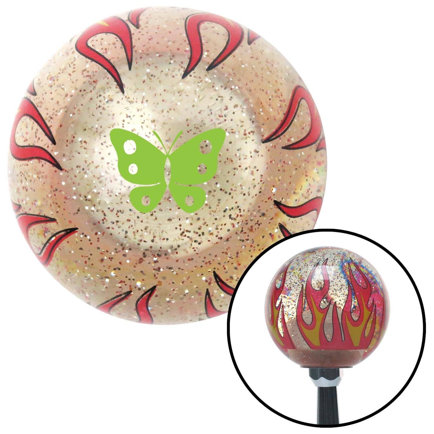 White I 3 My Engine American Shifter 194639 Red Retro Metal Flake Shift Knob with M16 x 1.5 Insert