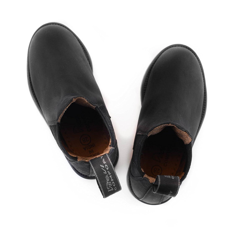 alle Gr/ö/ßen Farbe: schwarz Equi Comfort Reitstiefelette aus echtem Nubukleder Sohle Rutschfest Wasserdicht Kinder