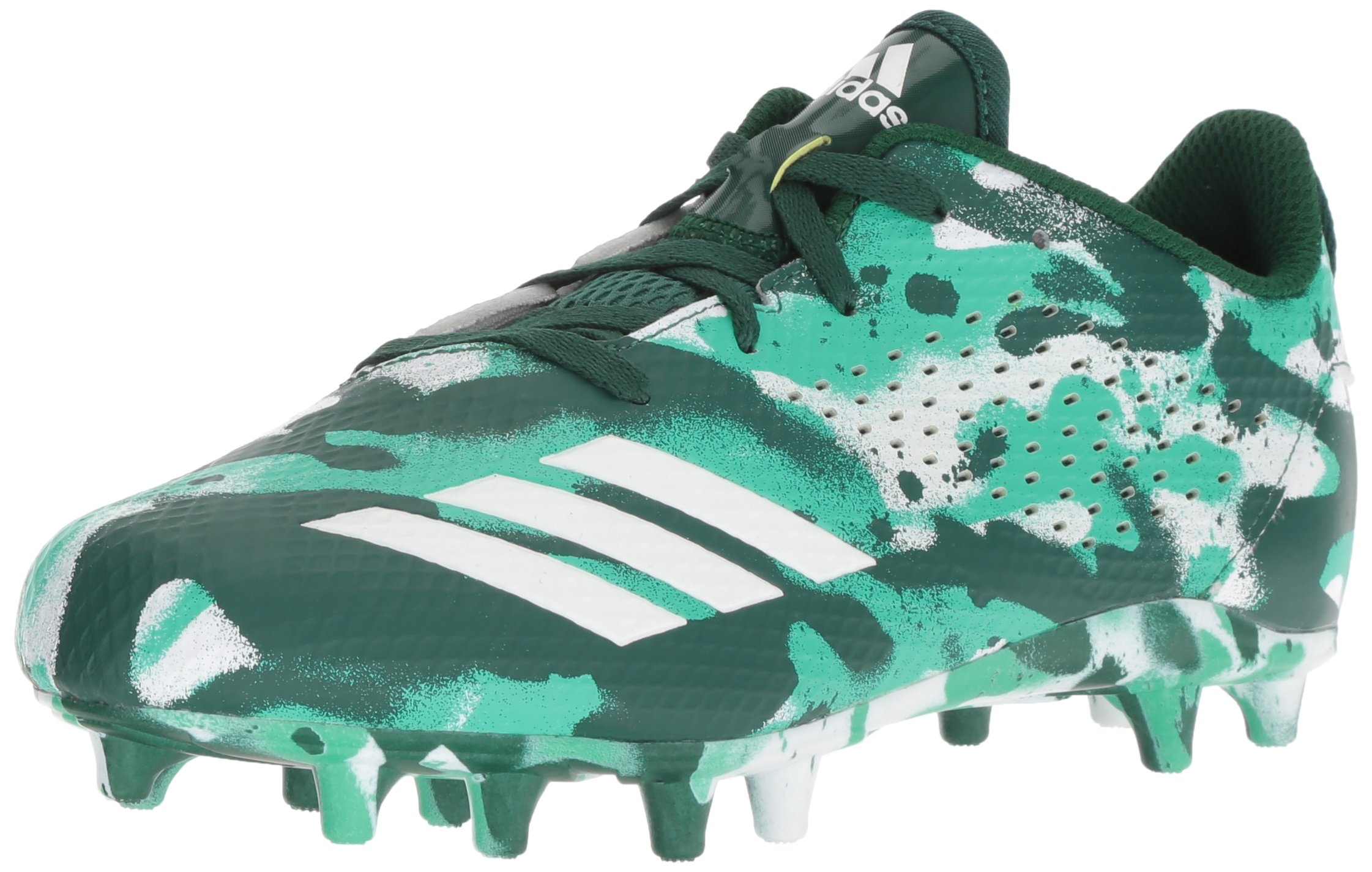 adidas Unisex Adizero 5-Star 7.0 Football Shoe, White/Collegiate hi-res Green, 6 M US Big Kid