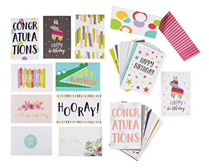 48 Pack Assorted All Occasion Greeting Cards Blank Note Card Includes Happy Birthday