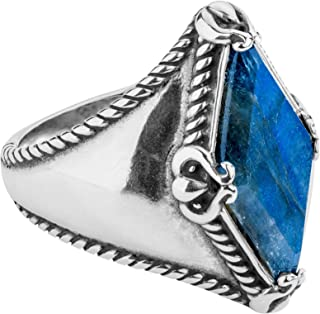 product image for Carolyn Pollack Sterling Silver Agate & Labradorite Gemstone Kite-Set Ring Size 5 to 10