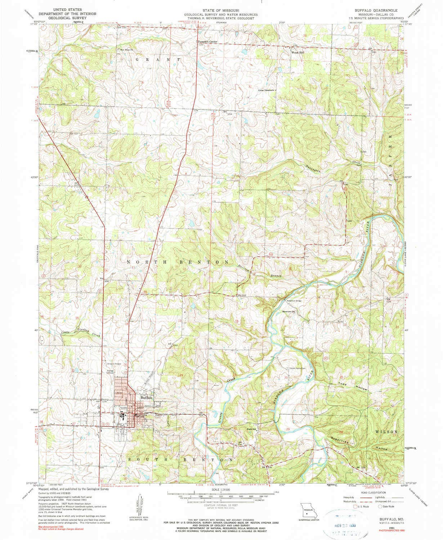 Amazon Com Yellowmaps Buffalo Mo Topo Map 1 24000 Scale 7 5 X