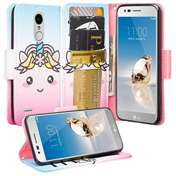 Gw Usa Cute Wallet Case Kickstand For Girls Women Compatible For Lg Aristo 2 Plus Lg Aristo 2 Lg Risio 3 Lg Tribute Dynasty Lg Zone 4 Lg Fortune