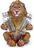 SAFARI LEONINE LION KING SALT PEPPER SHAKERS HOLDER FIGURINE STATUE