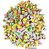 500 Mini Eraser Animal and Fruit Assortment