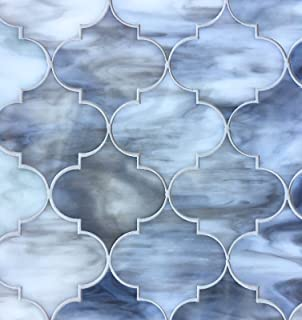 arabesque lantern 115x13 grey glass mosaic tiles wall backsplash