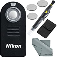 Nikon (Authentic) ML-L3 (Infrared) Wireless Remote Control Bundle with 3 X Spare Battery + 2-in 1 Lens Cleaning Pen…