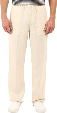 635959fec4 Tommy Bahama Men's New Linen On The Beach Easy Fit Pant, Natural, 2XL (