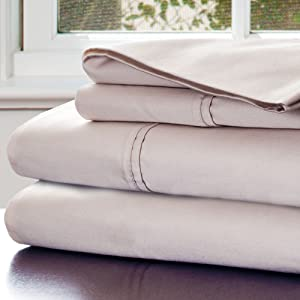 Lavish Home 1000 Thread Count Cotton Sateen Sheet Set, King Champagne
