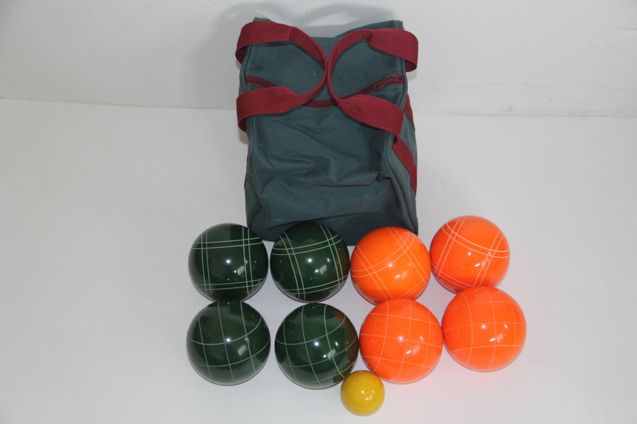 Premium Quality EPCO Tournament Set - 110mm Orange and Green Bocce Balls [Toy]