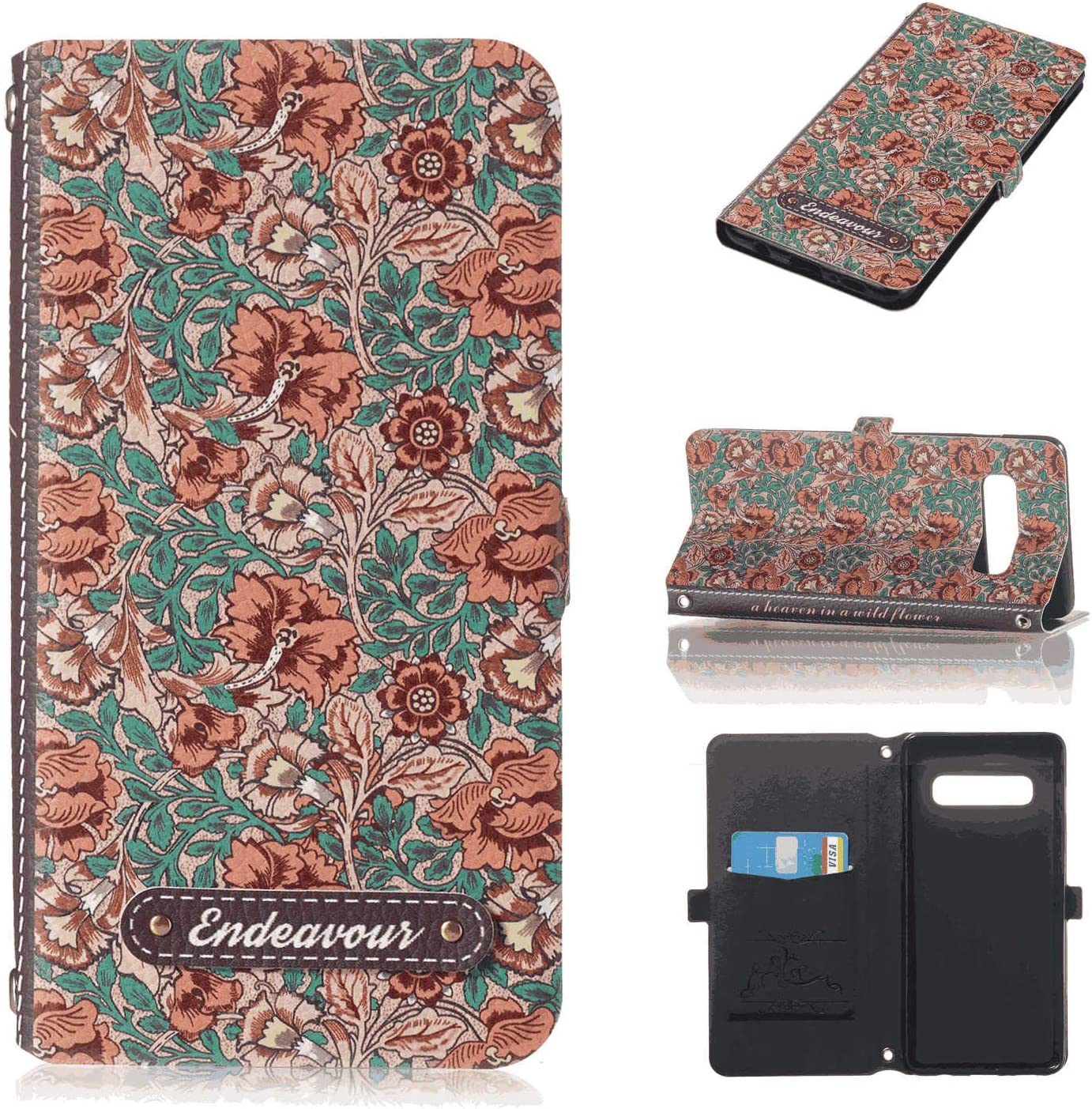 Business-Design Flip Cover for Samsung Galaxy S7 Edge PU Leather Case Compatible with Samsung Galaxy S7 Edge Cell Phone