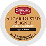 Community Coffee Sugar Dusted Beignet Flavored Light Roast Single Serve K-Cup Compatible Coffee Pods, Box of 12 Pods