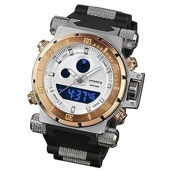 infantry® mens analogue digital wrist watch chronograph night infantry® mens analogue digital wrist watch chronograph night vision gold tone sport black rubber