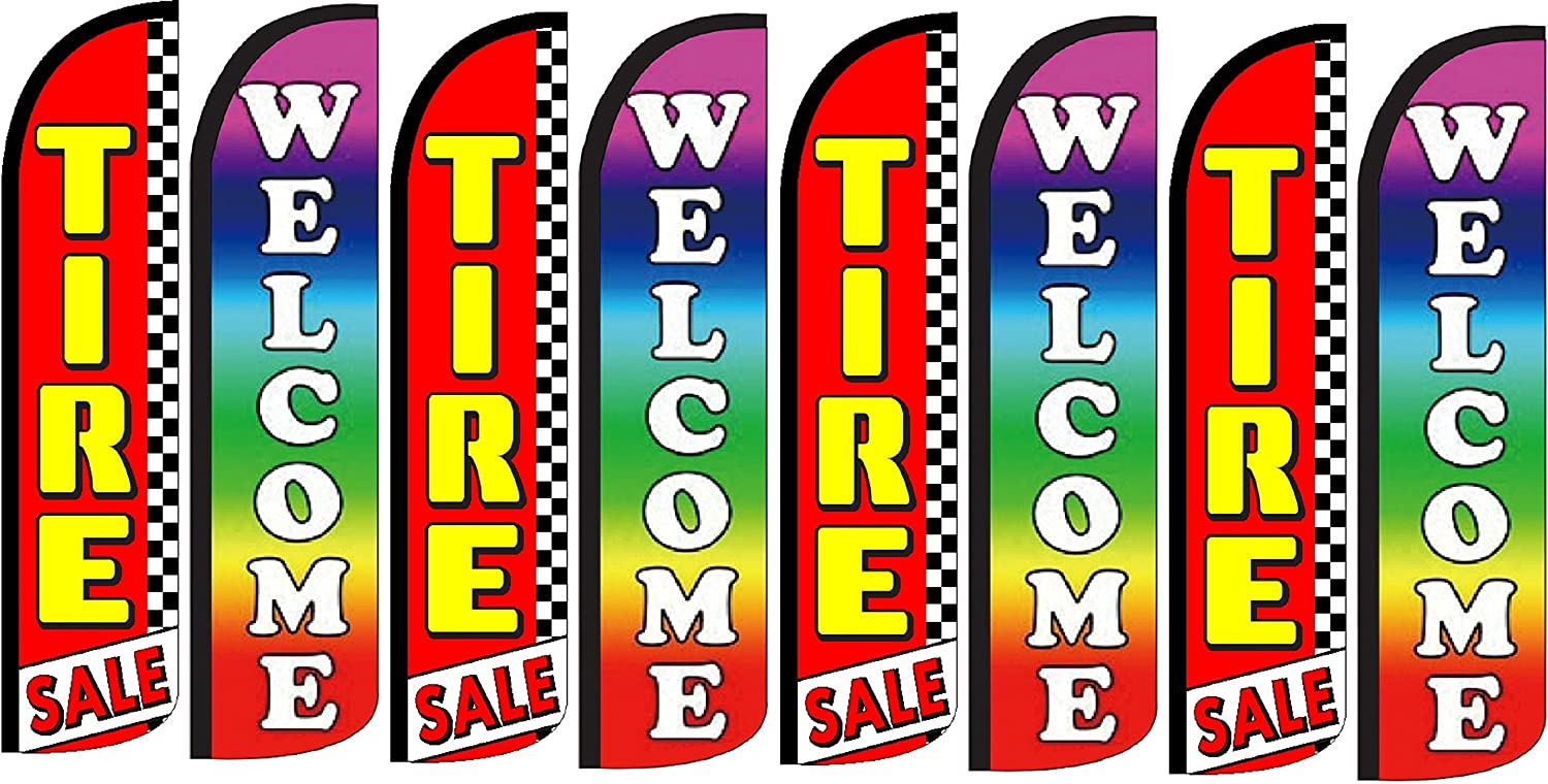 Tires Sale Welcome King Windless Flag Pack of 8 Hardware not Included