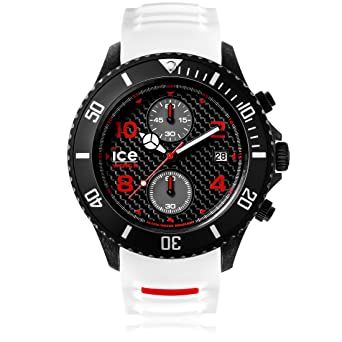 0c9cf1e6eb02e Ice-Watch - Ice Carbon White Black - Montre Blanche pour Homme avec  Bracelet en