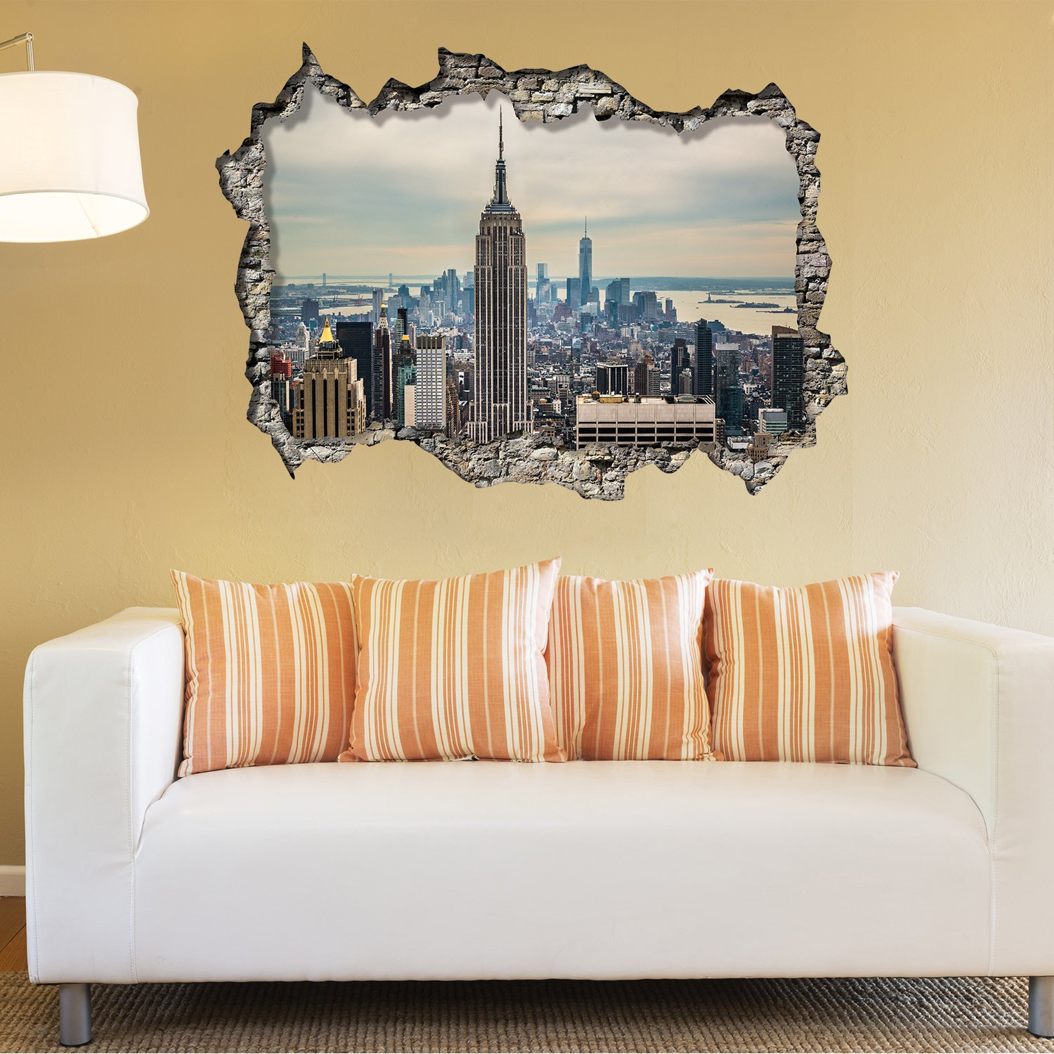 Walplus Wall Stickers New York Sunrise Mural Art Decals Vinyl Home ...
