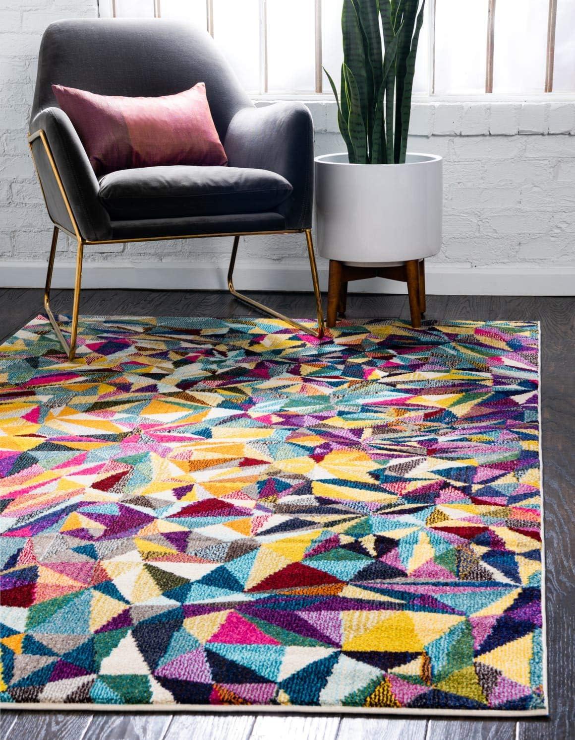 Unique Loom Estrella Collection Colorful Abstract Multi Area Rug 9 0 x 12 0