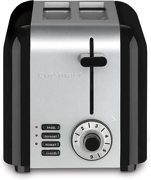 Amazon.com: Tostadora compacta Cuisinart con 2 ranuras, 2 ...