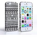 Caseflex iPhone 5 / 5S Case Black / White Aztec Hard Cover