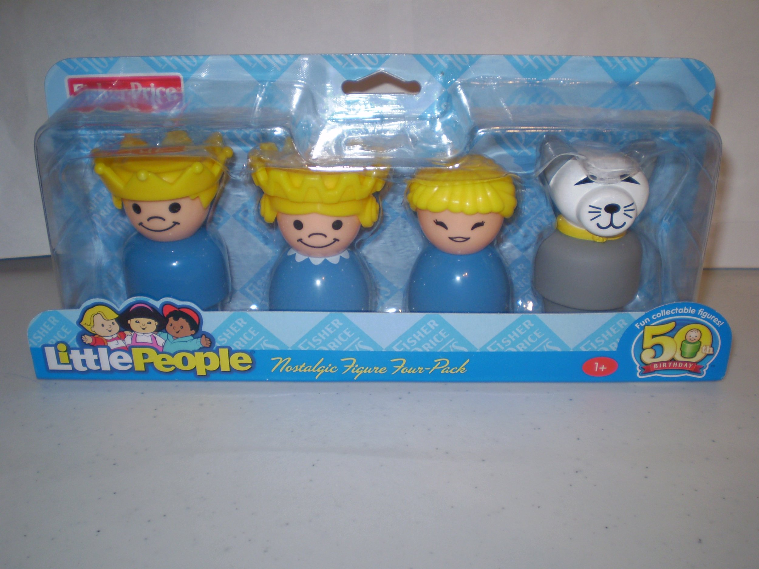 Little People 50th Birthday Nostalgic Figure Four-Pack - King, Queen, Girl, Cat