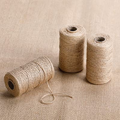Burlap String,3 Rolls/984feet, Natural Jute Twine Perfect for Gifts Packing and Decor by FELIZEST (2mm): Home Audio & Theater