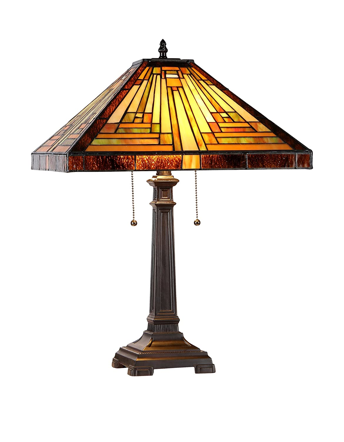 Chloe lighting ch33359mr16 tl2 innes tiffany style mission 2 light chloe lighting ch33359mr16 tl2 innes tiffany style mission 2 light table lamp 16 inch shade tiffany style table lamps amazon geotapseo Choice Image