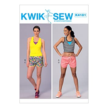KWIK-SEW PATTERNS Kwik Sew Mustern k4181osz Misses-Tops und Shorts ...