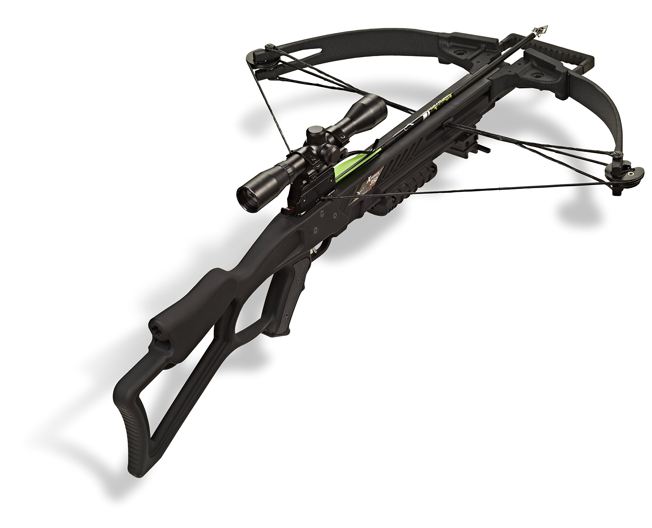 Carbon Express 20271 X-Force 350 Crossbow Kit (Rope Cocker, 3 Arrow Quiver, 3 Crossbolts, Rail Lubricant, 3 Practice Points, 4x32 Scope), Black by Carbon Express (Image #4)
