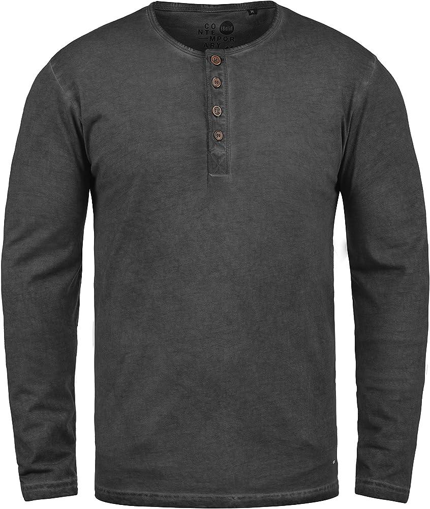 Solid Timur Camiseta Básica De Manga Larga Longsleeve para Hombre ...