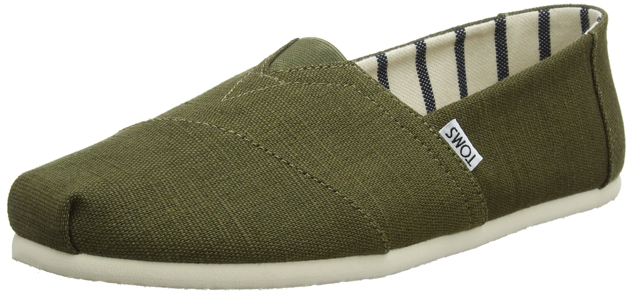 TOMS Men's Seasonal Classics Military Olive Heritage Canvas 9.5 D US