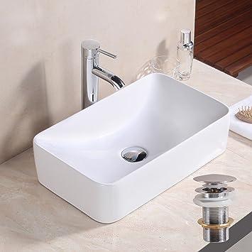 gaga rechteck bowl top keramik-waschbecken porzellan spüle vessel ... - Küche Waschbecken Keramik