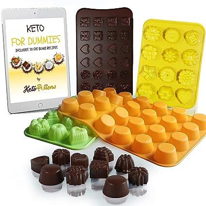 Amazon com: Keto Fat Bombs Silicone Molds - Cookbook: 70 Fat