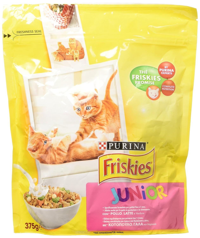 Friskies - 375 gr. secco junior pollo-latte-verdure cibo per ...