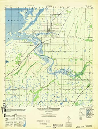 Ruskin Florida Map.Amazon Com Florida Maps 1947 Ruskin Fl Usgs Historical
