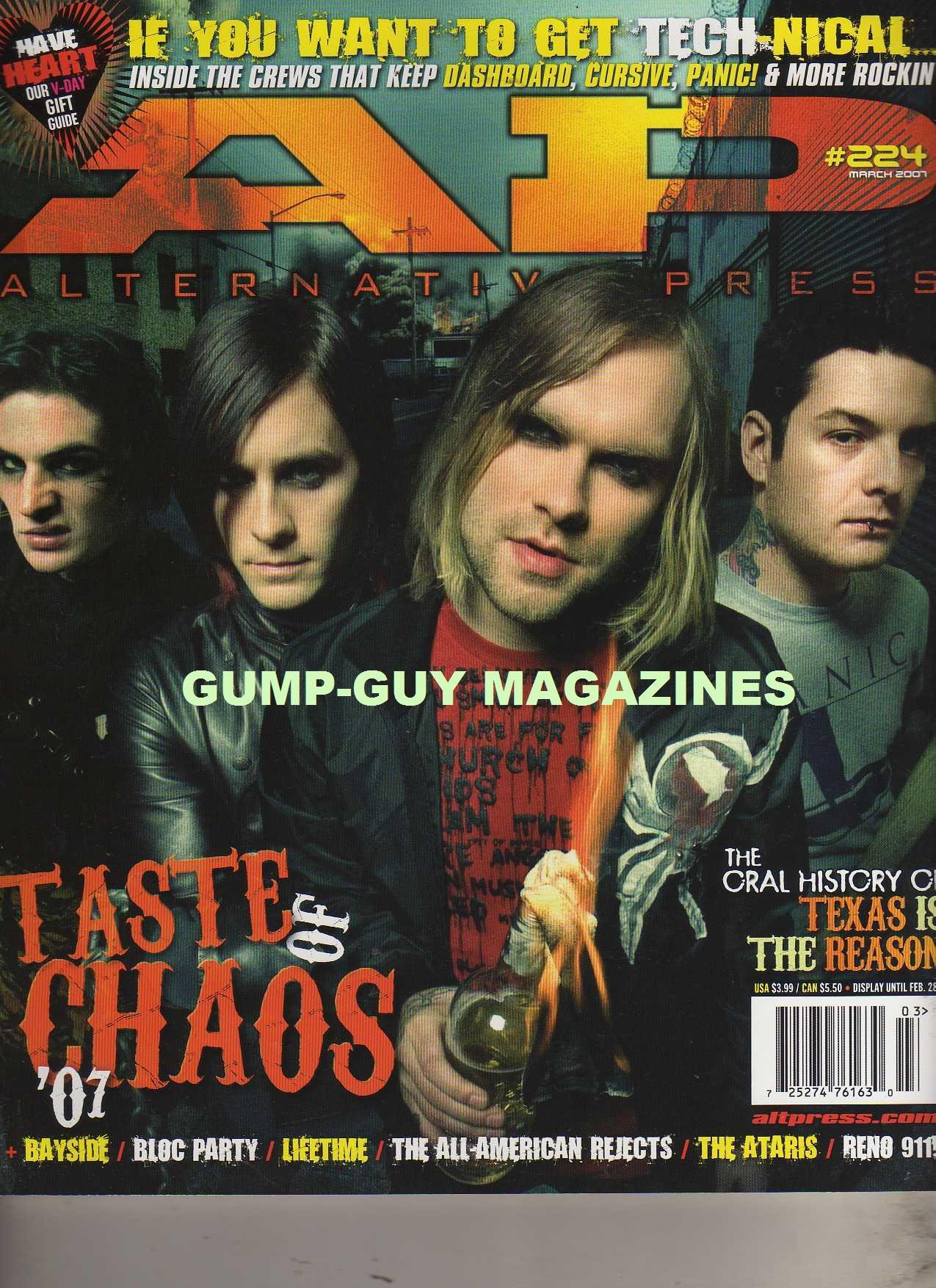 Download Alternative Press #224 AP March 2007 TASTE OF CHAOS The Oral History Of Texas Is The Reason THE WINTER WARPED MAKES ITS THIRD ANNUAL CAMPAIGN ACROSS NORTH AMERICA THIS YEAR PDF